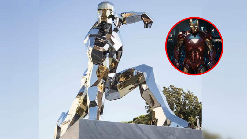 Levantan estatua en Italia en honor a Iron Man